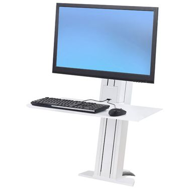 WORKFIT-S SINGLE MONITOR HEAVY DUTY SMALL WORKSURFACE MOUNTING ACCS