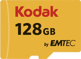 EMTEC SD MicroSD Card 128GB KODAK Gold+ SDHC CL10 &Adapter Bliste (EKMSDM128GXC10K)