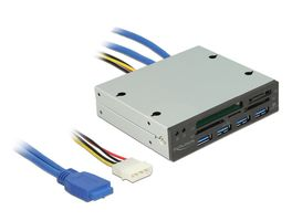 3.5 USB3 Card Reader + 4-port USB3 Hub