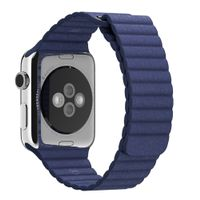 BAND 42MM BLUE LEATHER LOOP LARGE