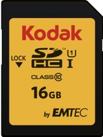 SD Card 16GB KODAK SDHC (CLASS10) Gold+ UHS-I U1 Ka.Blist
