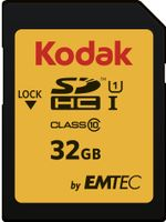 SD Card 32GB KODAK SDHC (CLASS10) Gold+ UHS-I U1 Ka.Blist