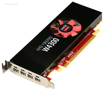 FIREPRO W4300 4GB GDDR5 PCIE 3.0 16X 4X M-DP LP RETAIL   IN CTLR