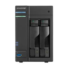 ASUSTOR AS6202T 2-Bay NAS Intel Celeron Quad-Core 4 GB SO-DIMM DDR3L GbE x 2 USB 3.0 & eSATA WoL System Sleep Mode (AS6202T)