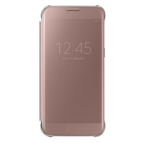 Clear View CoverPink Gold, for Galaxy S7