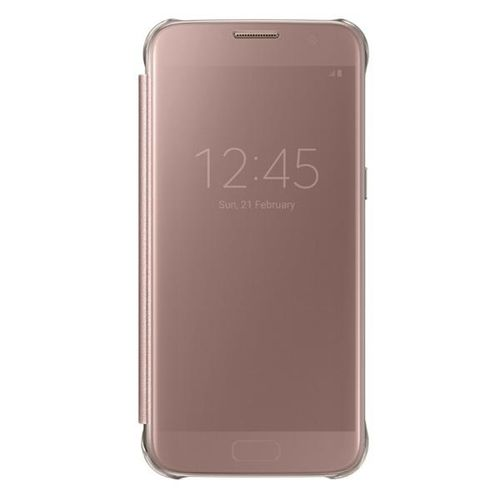 SAMSUNG Galaxy S7 Edge Clear View Cover Pink Gold (EF-ZG935CZEGWW)