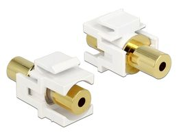 DeLOCK keystone modul, 3,5mm 4-pin ho - 3,5mm 4-pin ho, vit