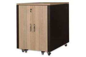 SOUNDPROOF CABINET BEECH METAL PARTS BLACK RAL 9005 ACCS