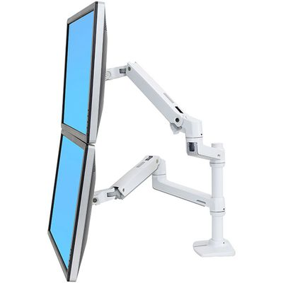 LX DUAL STACKING ARM NO GROMMET MOUNT BRIGHT WHITE