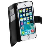 VIVANCO Phone wallet magnetic lock synthetic leather stand function credit card compartment black for iPhone SE/5/5S