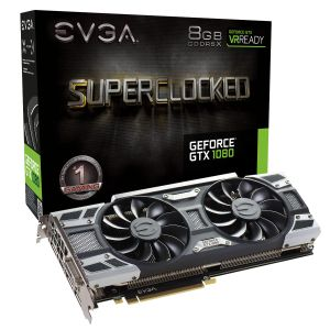 EVGA SC Gaming ACX 3.0 Nvidia GeForce GTX 1080 8GB (08G-P4-6183-KR)