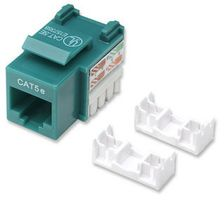 KEYSTONE UTP PUNCH-DOWN GREEN CAT5E JACK