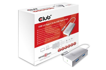 CLUB 3D Adapter USB 3.0 Typ C > 4x USB 3.0 Typ A (CSV-1541)