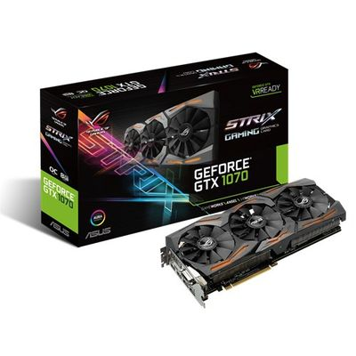 GF STRIX-GTX1070-O8G-GAMING 8GB GDDR5 1683MHZ DVI HDMI DPX3 IN