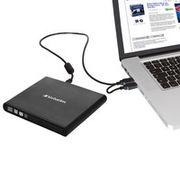 VERBATIM MOBILE DVD REWRITER USB2.0 BLACK                            IN EXT