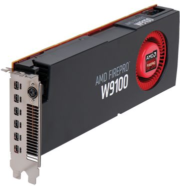 FIREPRO W9100 16GB GDDR5 PCIE 3.0 16X 6X M-DP RETAIL      IN CTLR