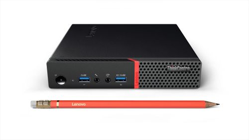 LENOVO ThinkCentre M900 10FL - Liten stationär dator - 1 x Core i7 6700T / 2.8 GHz - RAM 16 GB - SSD 256 GB - TCG Opal Encryption - HD Graphics 530 - GigE - WLAN : 802.11a/ b/ g/ n/ ac,  Bluetooth 4.1 - Win 10 Pr (10FL0036MX)