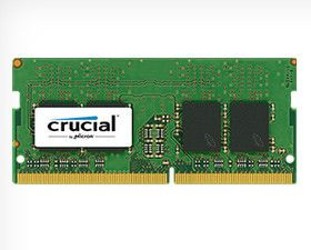 CRUCIAL 8GB KIT (4GBX2) DDR4 2133 MT/S CL15 SRX8 UNBUFFRD SODIMM 260PIN (CT2K4G4SFS8213)