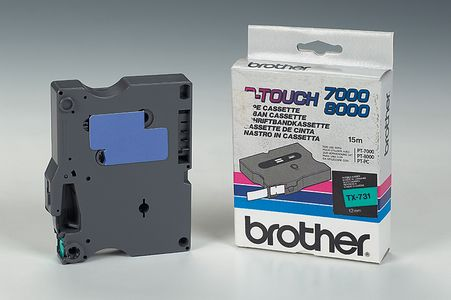 BROTHER P-Touch Tape Black On Green 12mm  (TX-731)