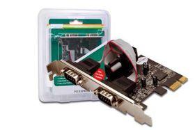 DIGITUS SERIAL INTERFACE CARD 2-PORT PCIE CTLR (DS-30000-1)