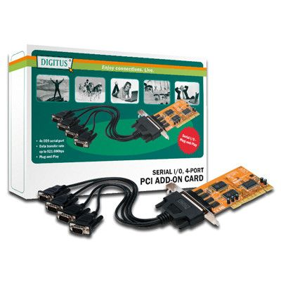 DIGITUS 2XSERIAL INTERFACE CARD PCI 4 PORT 4X DB9 M              IN ACCS
