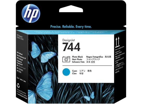 HP 744 Printhead Photo Black & Cyan