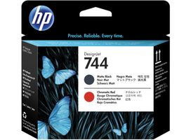 HP 744 Printhead Matte Black & Red
