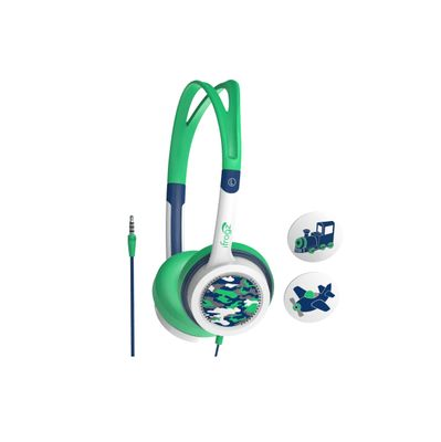 AUDIO LITTLE ROCKERS HEADPHONES BLUE/ GREEN CAMO