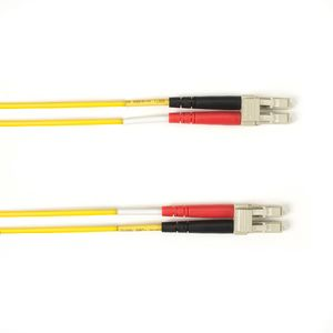 BLACK BOX COLOURED MULTIMODE OM4 PATCH CABLE - LSZH DUPLEX - YELLOW, LC-LC, 10M (FOLZHM4-010M-LCLC-YL)