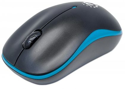 MANHATTAN Success wireless optical mouse 1000 dpi 2.4 GHz black/ blue (179416)