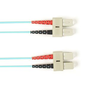 BLACK BOX FIBRE OPTIC MULTIMODE OM4 PATCH CABLES (50-/ 125-µM) - AQUA, SC-SC, 20M (EFE455-020M-AQ)