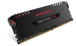 64GB (4-KIT) DDR4 3000MHz Vengeance LED Stunning Red LED