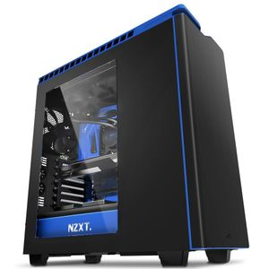 NZXT computer case H440 Matte Black-blue with window (CA-H442W-M4)