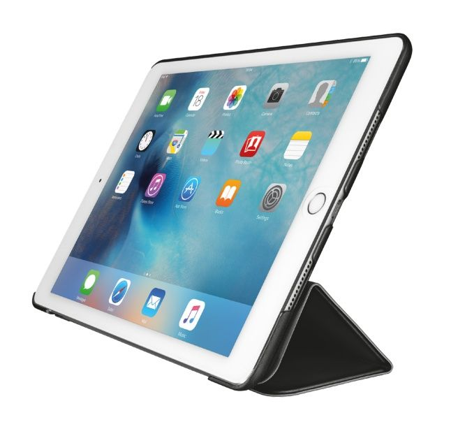 Trust Urban Aurio Smart Folio - Lommebok for nettbrett - svart - for Apple 9.7-inch iPad Pro (21099)