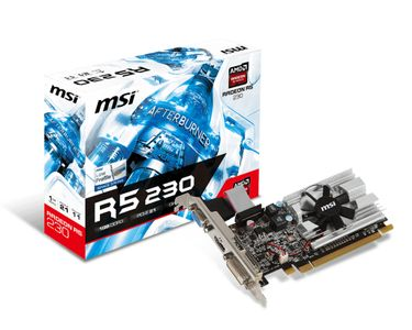 MSI R5 230 1GD3H LP 1GB DDR3 HEATSINK DVI HDMI                IN PERP (V809-2054R)