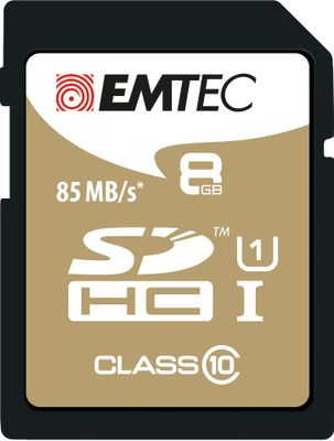 SD Card 8GB SDHC (CLASS10) Gold + Kartenblister
