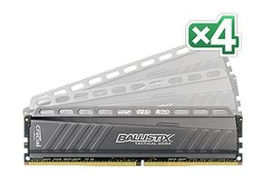 Ballistix Tactical 16G DDR4, 4x288, 3000Hz