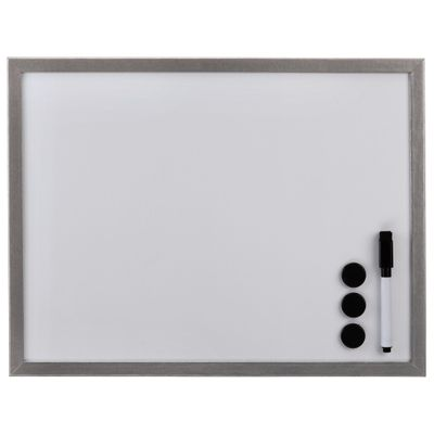 Whiteboard silver 30x40 Wood 125979