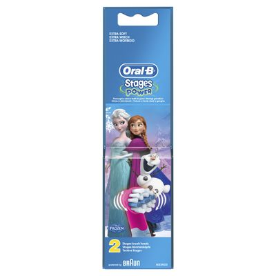 Oral-B Toothbrush heads Stages Power  FROZEN     2 Pack