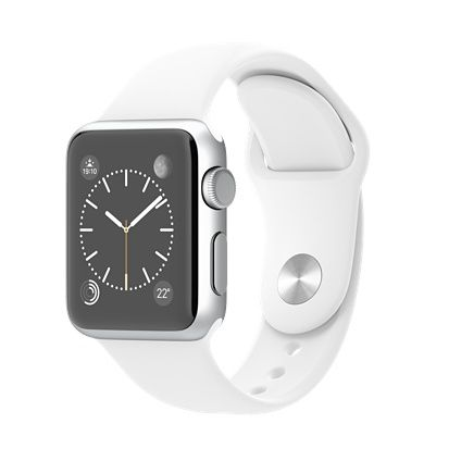 NL Watch 38mm Silver Alu with White Sport Band