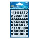3781 Number labels weatherproof  black 9,5mm (130)