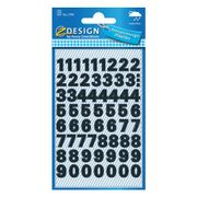 AVERY 3781 Number labels weatherproof  black 9,5mm (130)