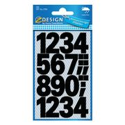 AVERY 3785 Number labels weatherproof black 25mm (48)