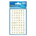 AVERY Letters, Gold Letter  on Transparent Film 7, 5mm/ 30pt,  2 sheets/ pack (3727)
