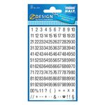 AVERY Numbers Black on White Background 5mm/21pt, 2 sheets/ pack (3721)