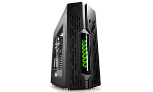 GENOME - ATX with Integrated Liquid Cooling System - Black/ Green Helix