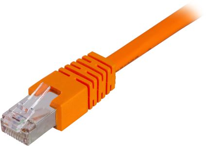 DELTACO FTP Cat.6 patchkabel 1m, orange (STP-61-OR)