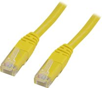 Deltaco UTP Cat.6 patchkabel 0.5m, gul