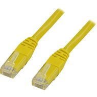 UTP Cat.6 patchkabel,  korskopplad 0.5m, gul