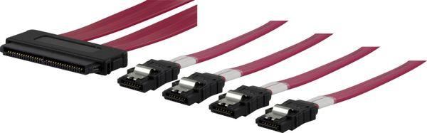 Multilane SAS SFF8484 till 4xSATA 7-pin, 70cm